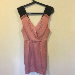 BCBGeneration Dresses - BCBGeneration pink mini dress with black straps